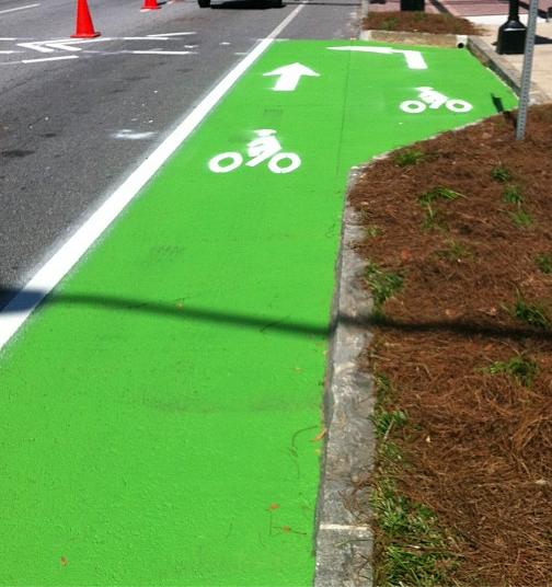 colord bike lane