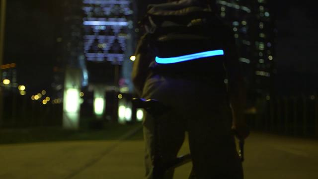 Eye-Catching Visibelt — Vibrant Protection for Cyclists, Runners, Pedestrians at Night