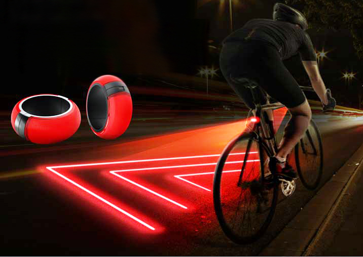 Lighted Bike Safety Zone Created With Bike Light Concept