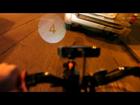 DIY Bike Light Beams Info Onto Road