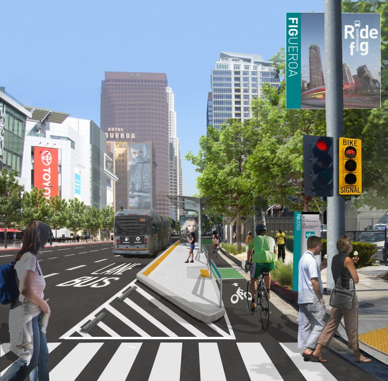 New Streetscape Project Myfigueroa Coming To Downtown L A