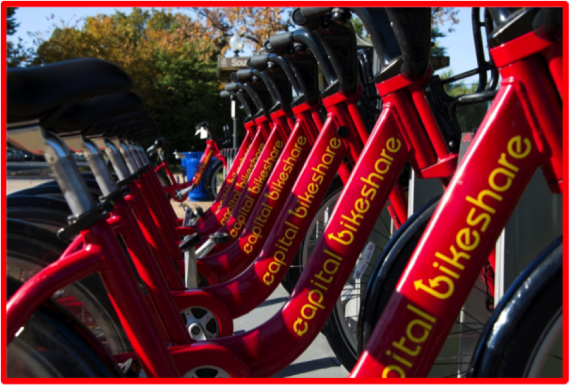 Capital Bikeshare bicycles. Image Credit: Capital Bikeshare