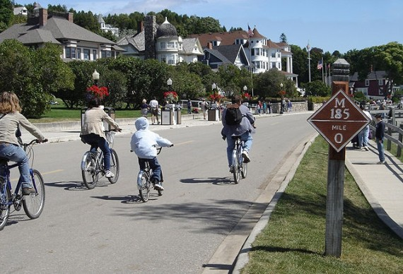 cars outlawed on Mackinac Island