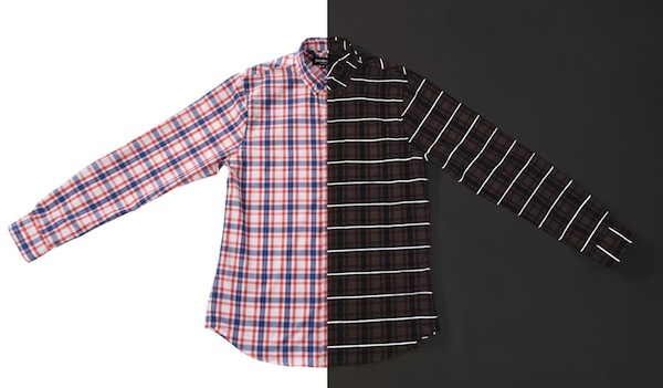 Betabrand reflective plaid shirt