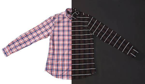 Betabrand reflective plaid shirt
