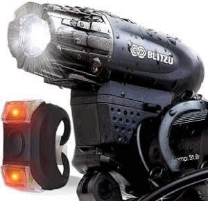 blitzue brand usb rechargeable bicycle lights
