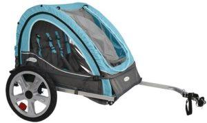 instep dual blue bike trailer
