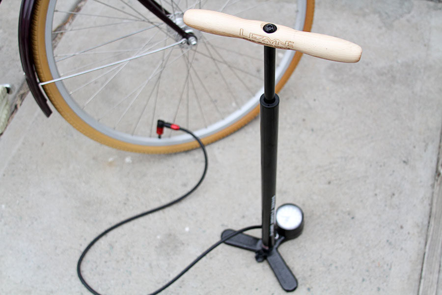 bicycle and pump