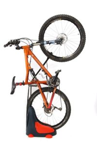 roll and store bike stand