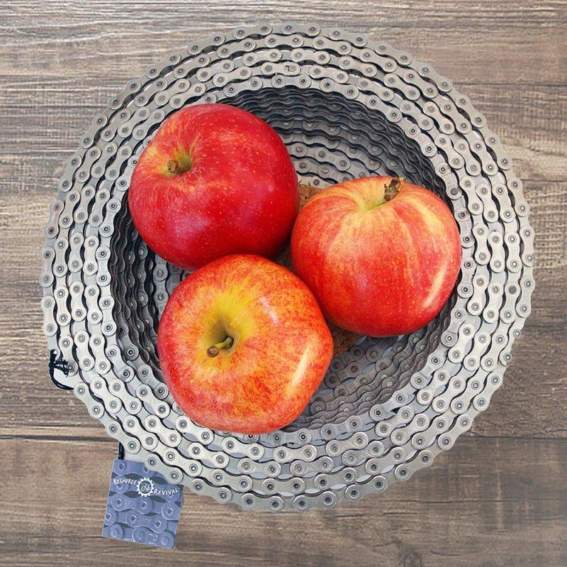 bike chain fruit bowl
